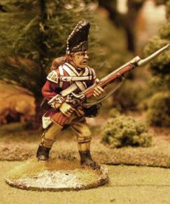 Advancing with bayonet musket up