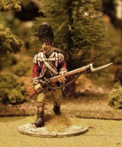 Advancing with bayonet musket down