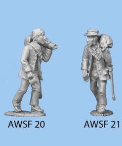 Walking with Sword & pistol or carrying sack & mug (hat)
