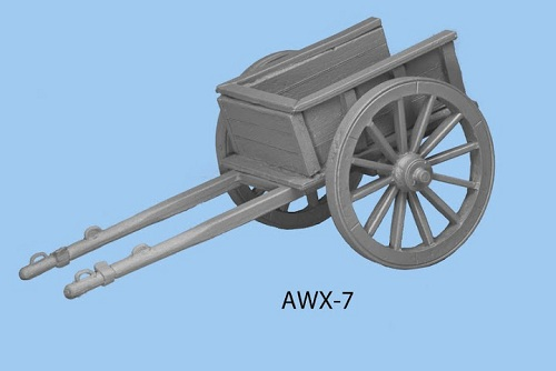 Two wheeled cart with rectangle box