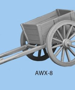 Two wheeled cart with smaller slanted box