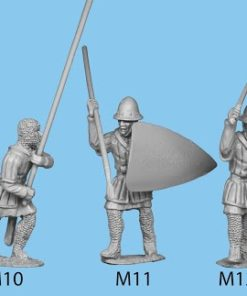 Hospitaller attacking with club and large shield