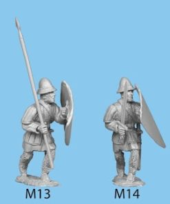 Hospitaller advancing with club and large shield