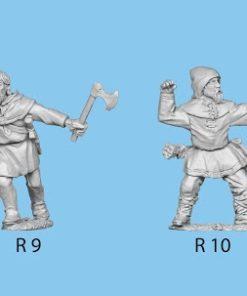 Standing firing bow wearing hood